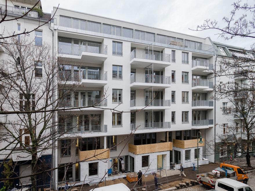 Eine Abbildung des Neubaus in der Chodowieckistraße 7.
