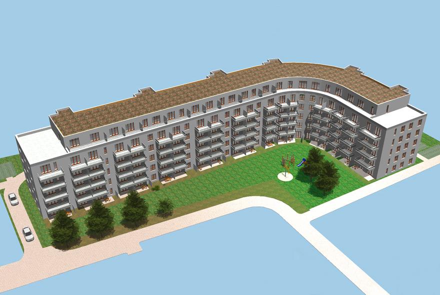 Visualisierung vom Neubau in der Neptunstraße in Reinickendorf