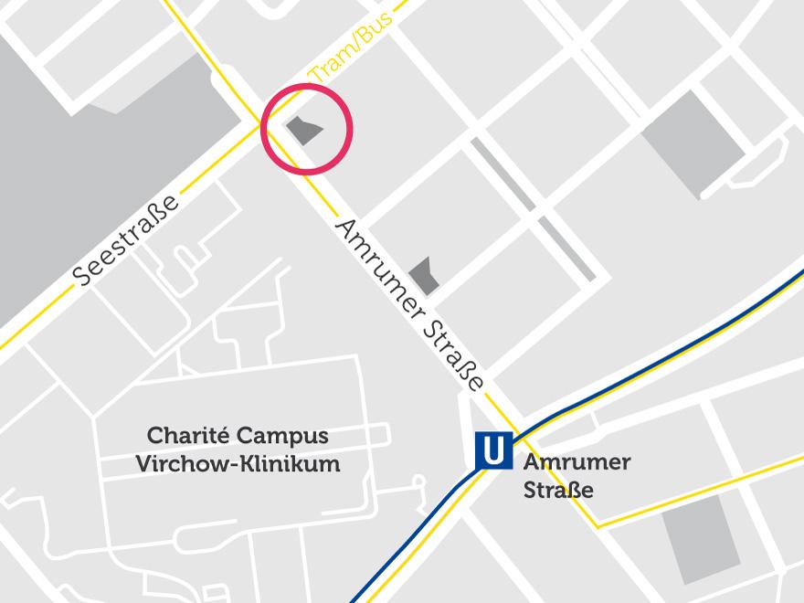 Lageplan der neuen Studentenwohnungen in der Amrumer Straße im Norden