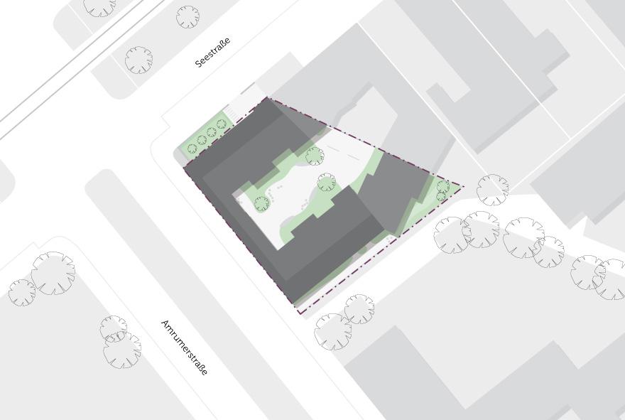 Lageplan der neuen Studentenwohnungen im Norden der Amrumer Straße