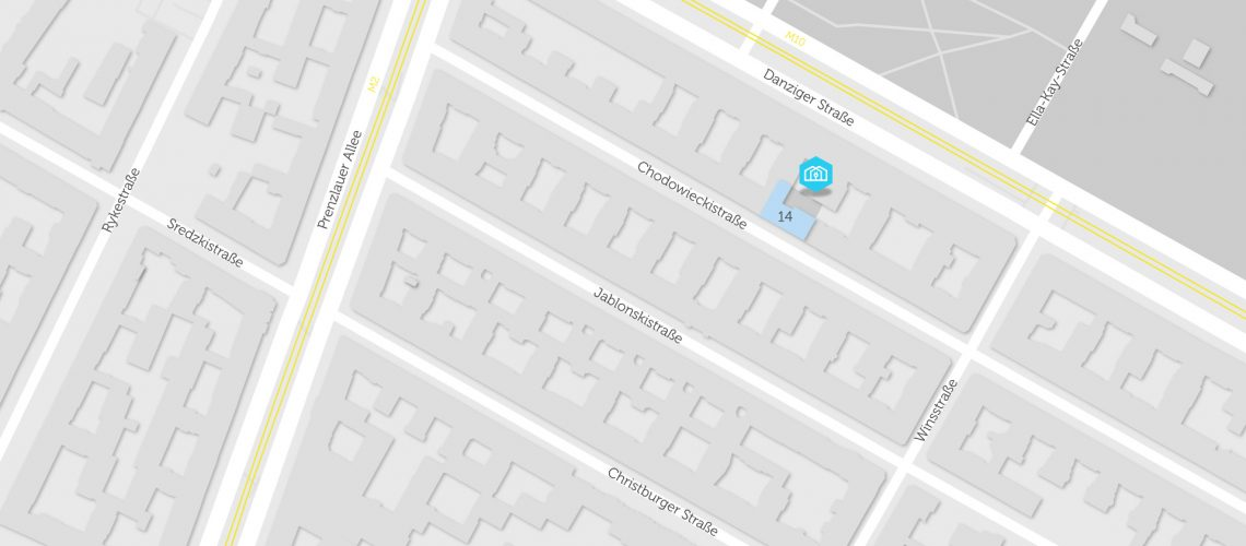 Karte mit BHKW in Chodowieckistraße 14