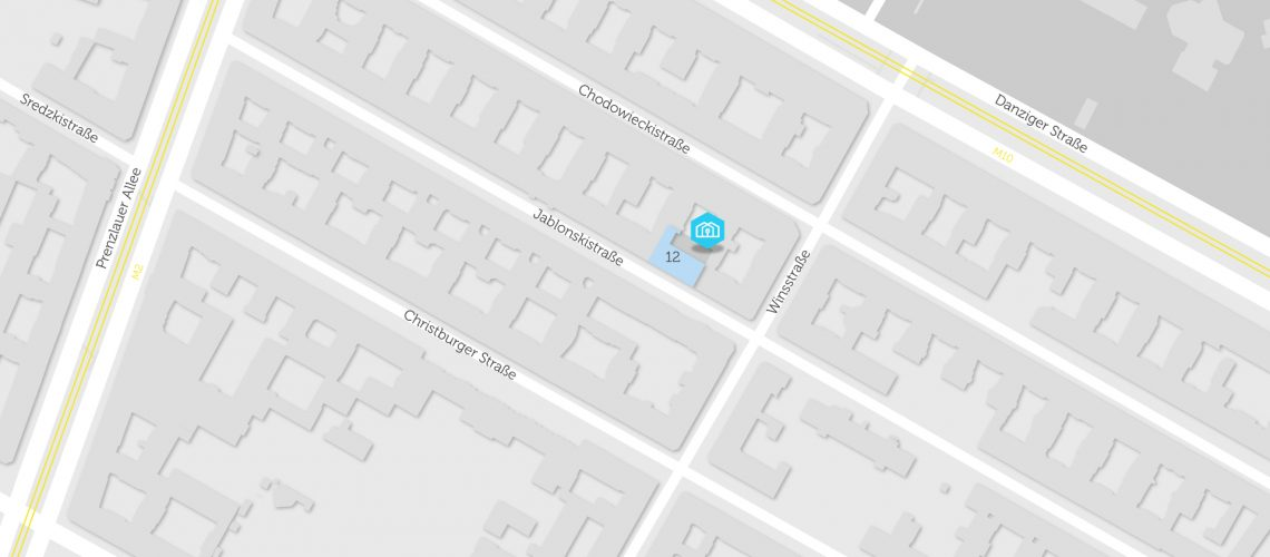 Karte mit BHKW in Jablonskistraße 12