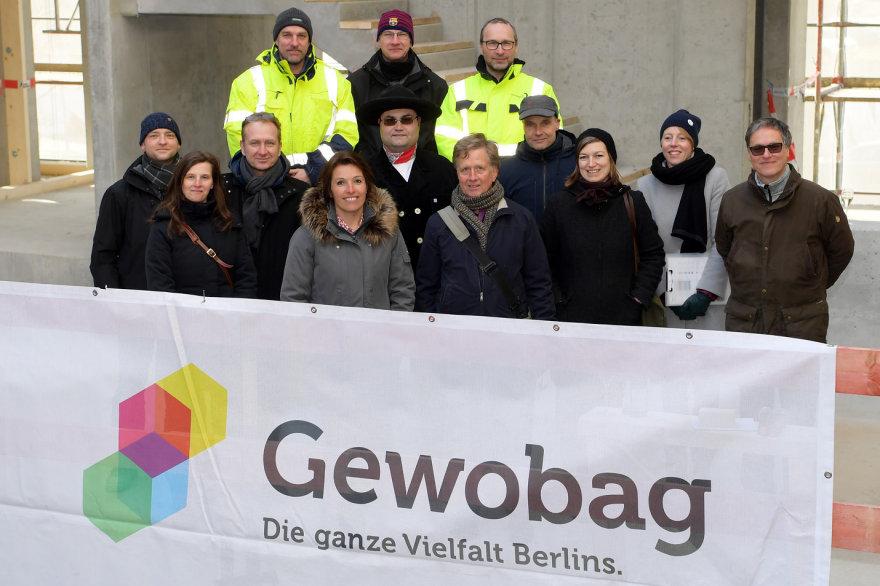 Gewobag beim Richtfest des Neubaus der Studentenwohnungen in der Amrumer Straße