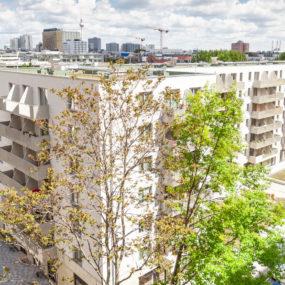 Visualisierung des Neubaus mit neuen Wohnungen in der Franz-Klühs-Straße