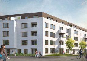 Visualisierung des Neubauprojekts der Gewobag in der Chamissostraße