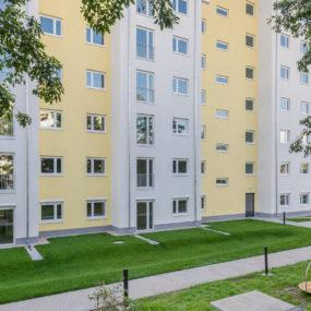 Fassade des Neubaus der Gewobag in der Freudstraße