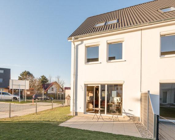 Musterhaus des Neubauprojekts Mein Falkenberg der Gewobag