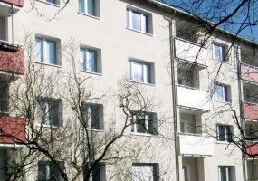 Fassade eines Modernisierungsprojekts am Gorgasring in Berlin