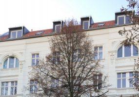 Fassade eines Modernisierungsprojekts in der Raumerstraße in Prenzlauer Berg