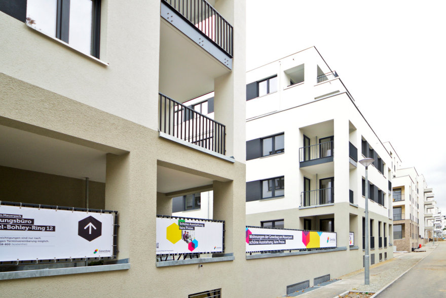 Mehrere Wohngebäude vom Neubau am Mauerpark
