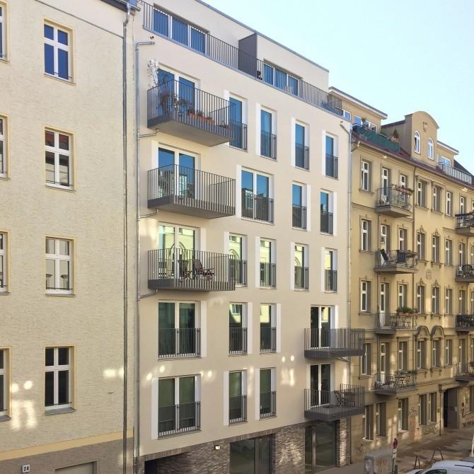 Das neue Gebäude in der Schliemannstraße 23 A.