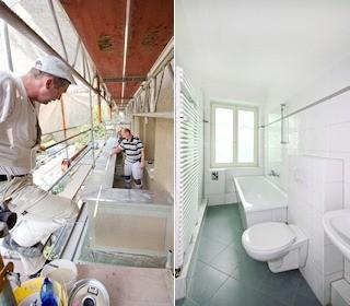 Balkonsanierung | Blick in ein saniertes Bad