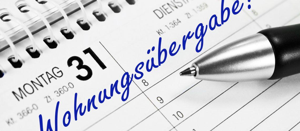Kalendereintrag zur Wohnraumübergabe nach der Kündigung vom Mietvertrag