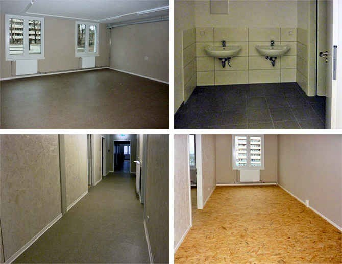 Innenansichten Multifunktionsunterkunft Bernauer Straße 138 A