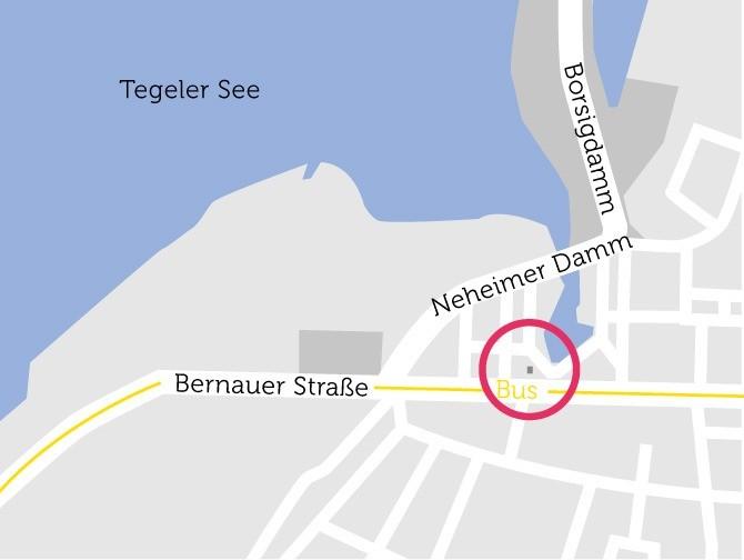 Eine Karte verdeutlicht die Lage des Gebäudes.