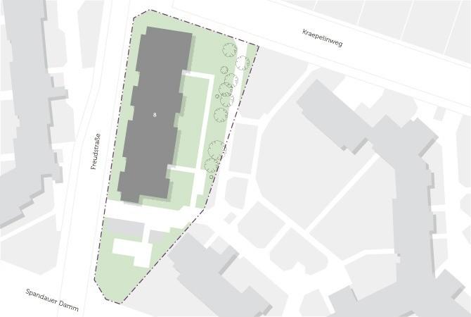 Plan vom Gelände der Unterkunft für Geflüchtete in Spandau