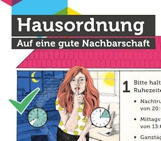 Illustrierte Hausordnung der Gewobag als Download