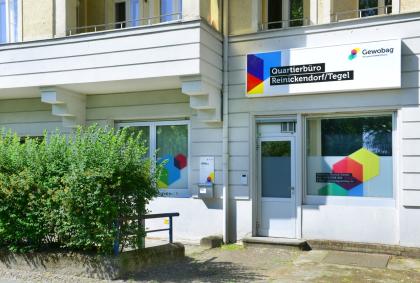 Eingang vom Quartierbüro der Gewobag in Reinickendorf/Tegel