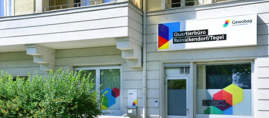 Das Quartierbüro der Gewobag in Reinickendorf/Tegel