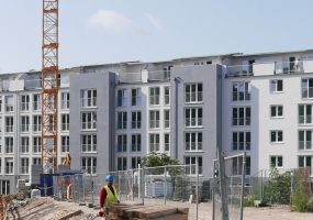 Baustelle des Neubauprojekts der Gewobag am Sachsendamm