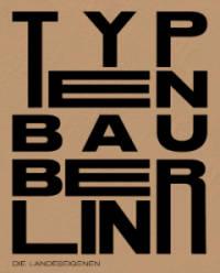 """Cover der Broschüre Typenbau. Brauner Hintergrund. In schwarzer Schrift steht dort """"Typenbau""""."""