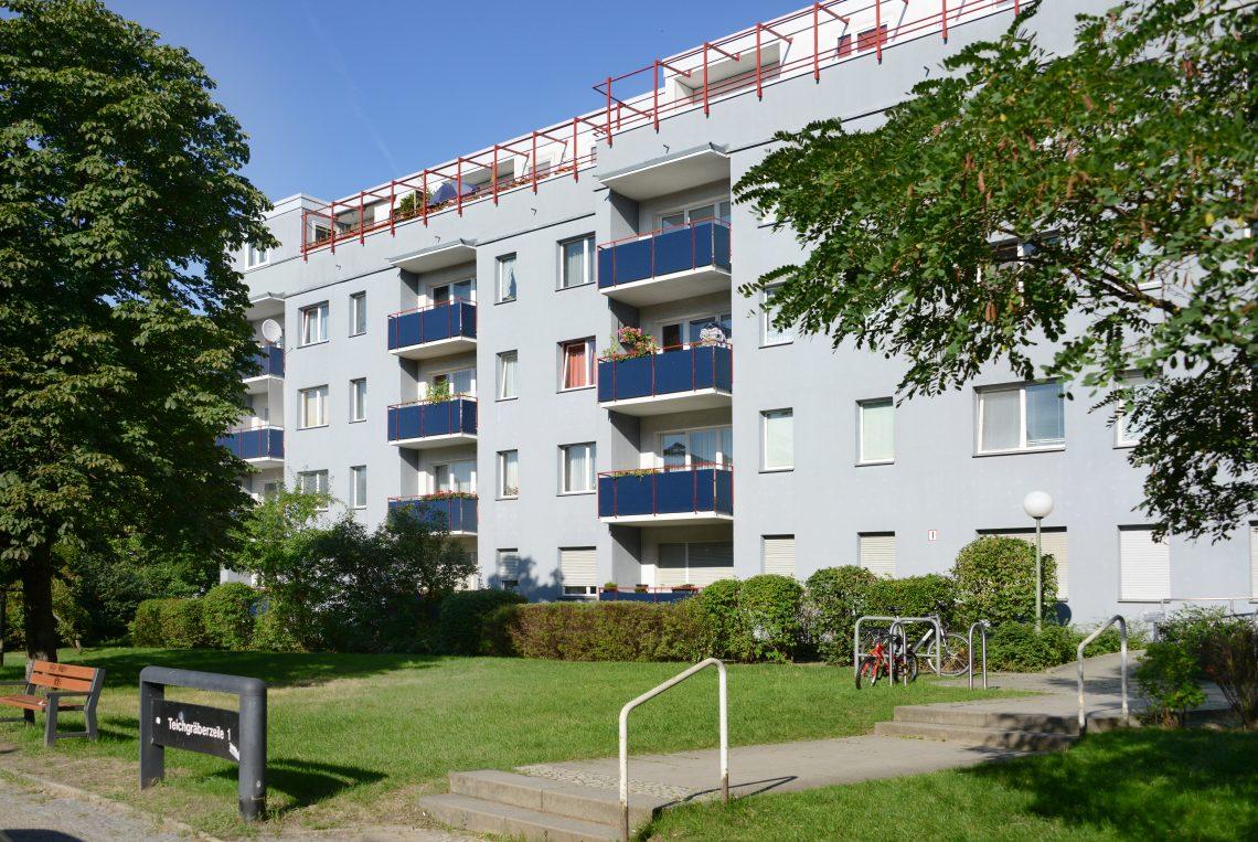 Foto von Gebäuden in der Paul-Hertz-Siedlung