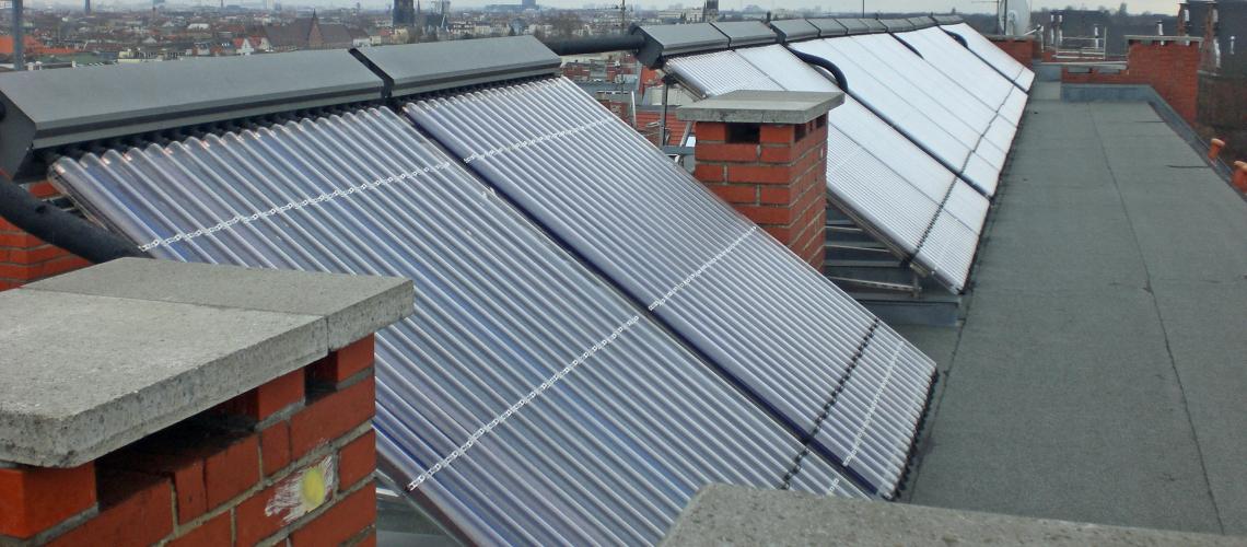 Solarthermische Anlagen auf dem Dach