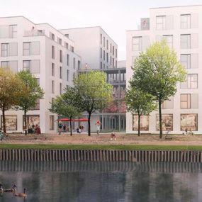 Neubauprojekt Arcostrasse der Gewobag am Wasser