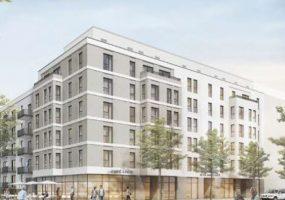 Visualisierung des Neubauprojekts der Gewobag am Südkreuz
