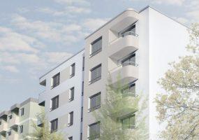 Visualisierung des Neubauprojekts der Gewobag in der Wiclefstraße 65