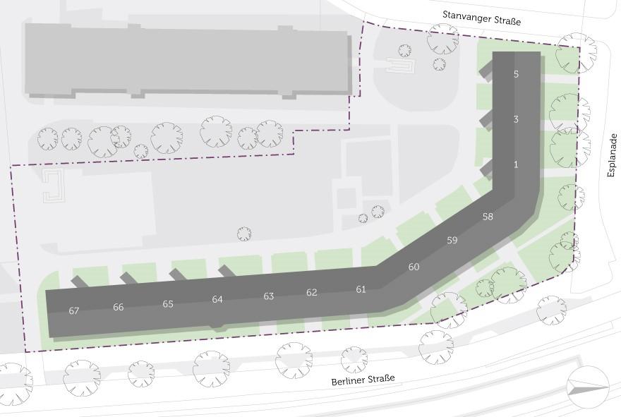Lageplan des Wohnblocks im Pankower Süden