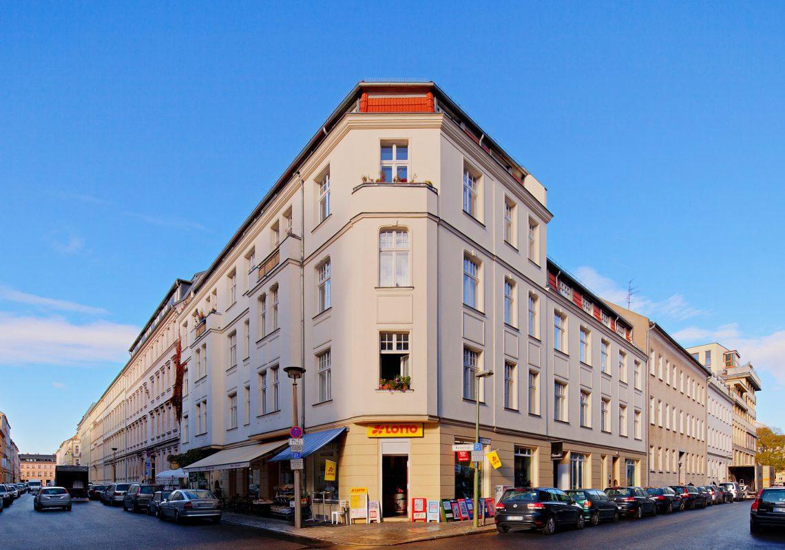 Referenz der Gewobag in der Albrechtstraße Ecke Marienstraße