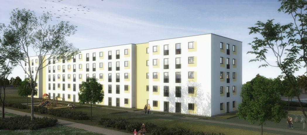 Visualisierung des Neubauprojekts der Gewobag in der Rauchstraße