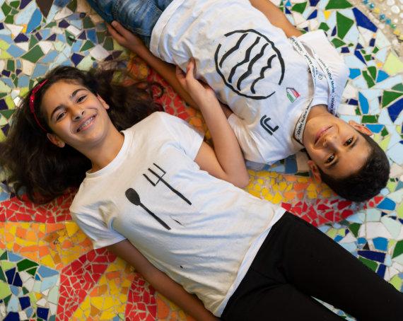 Teilnehmer beim KinderKulturMonat der Stiftung Berliner Leben