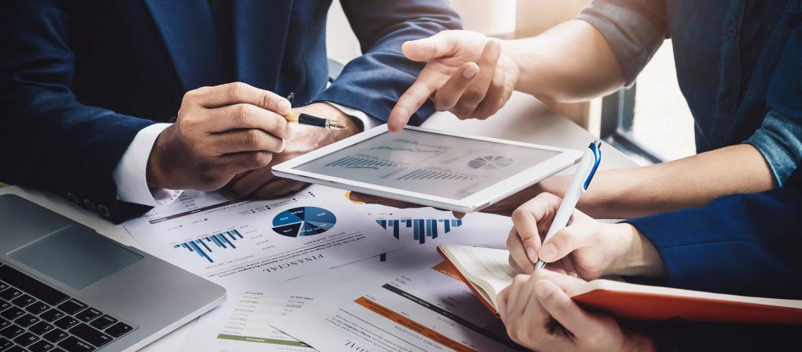 Darstellung von Finanzinformationen auf dem Tablet