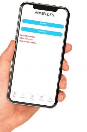 Anmeldung zur Gewobag Service-App