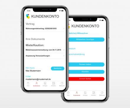 Gewobag Service-App Kundenkonto