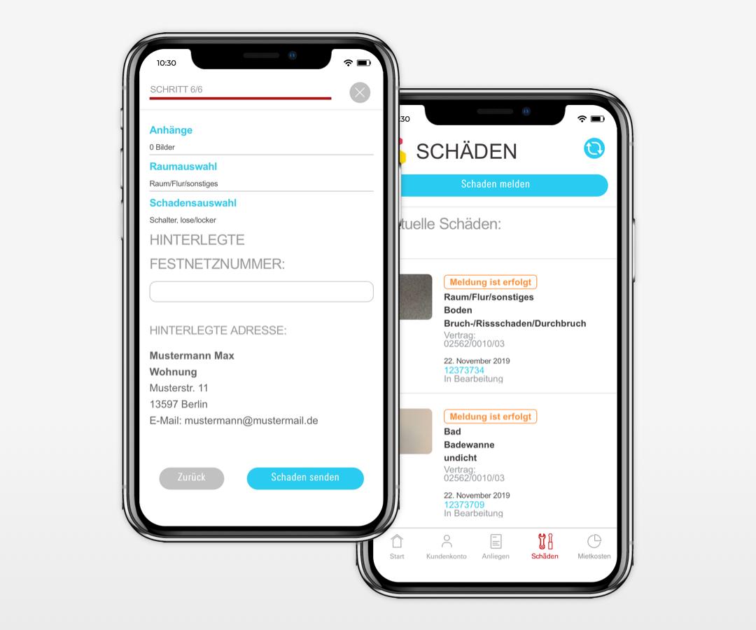 Gewobag Service-App Schadensmeldung