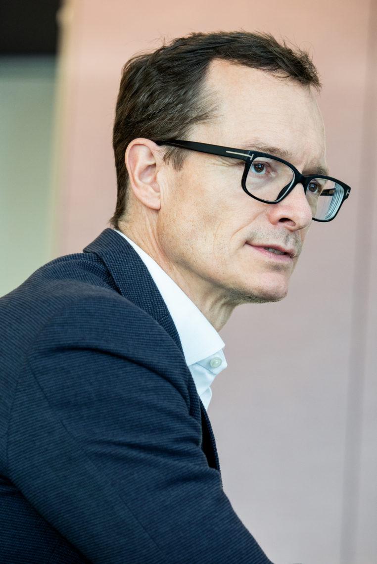 Markus Terboven spricht über die 10000 bis 15000 neuen Wohnungen, die die Gewobag im Rahmen der Investition in die Zukunft bauen will.