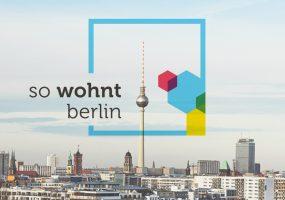 Berlin Panorama mit Gewobag-Aufschrift #sowohntberlin