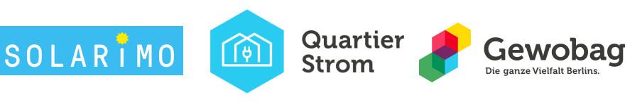 Logos von: Solarimo, Quartier Strom und Gewobag