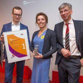 Urkunde vom ersten Platz beim BBU-ZukunftsAward 2020