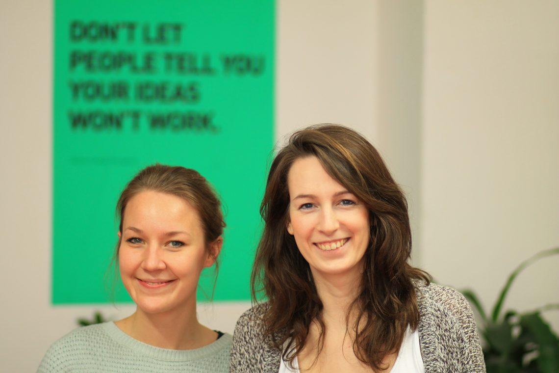 Die Gründerinnen Hanna Lutz und Stephanie Frost. Sie wollen Engagement einfacher machen.