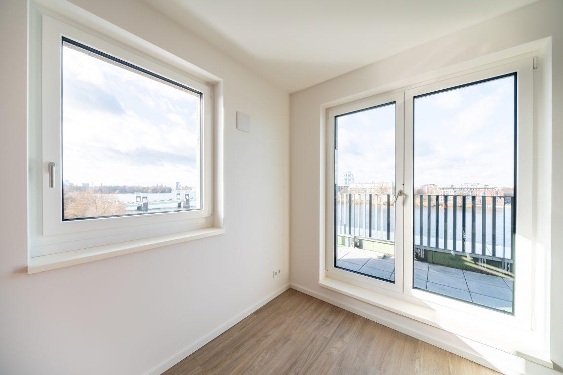 Blick aus einer Wohnung auf die Havel