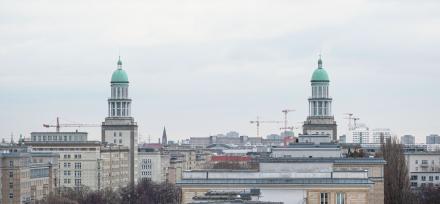 Zwei Türme am Frankfurter Tor.