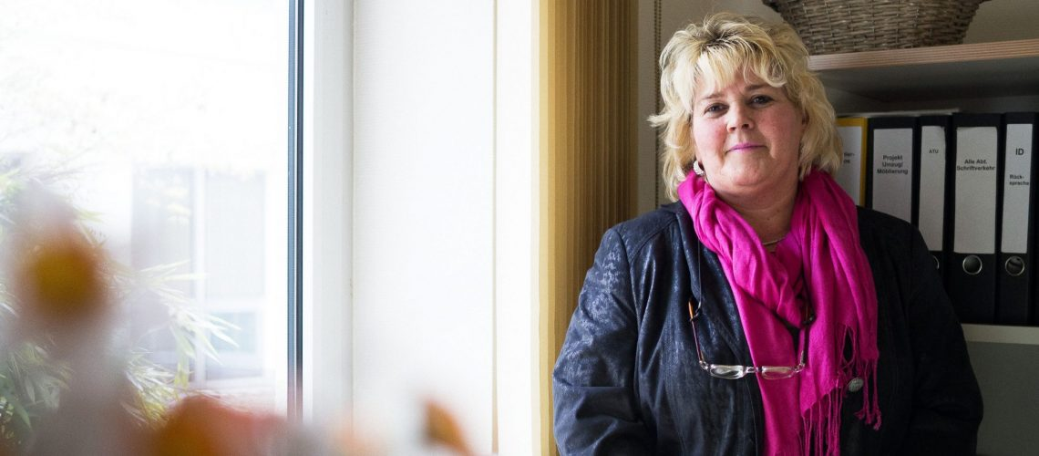 Frau Lüdicke, Gruppenleiterin bei den Inneren Diensten der Gewobag