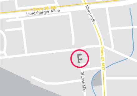 Neubau in der Rhinstraße in Berlin Lichtenberg auf Stadtkarte