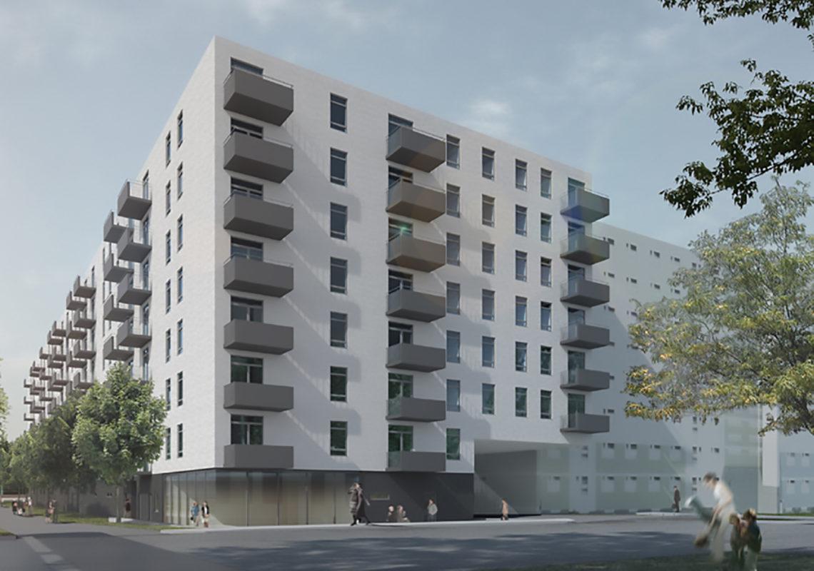 Visualisierung vom Neubau in der Rhinstraße in Berlin Lichtenberg