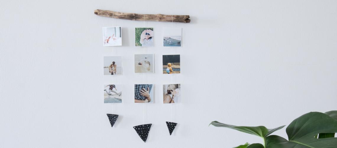 DIY Wanddeko mit Fotos