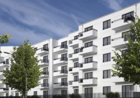 Visualisierung des Neubauprojekts der Gewobag im Wohnpark Mariendorf